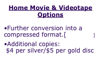 Home Movie & Videotape Options